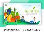 healthy farm food vector... | Shutterstock .eps vector #1756542377