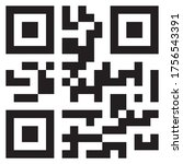 sample qr code icon on white... | Shutterstock .eps vector #1756543391