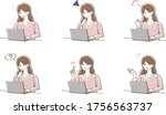 illustration of a woman...   Shutterstock .eps vector #1756563737