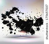 handmade acrylic paint splashes.... | Shutterstock .eps vector #175657037