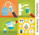 home filter water banner set.... | Shutterstock .eps vector #1756593431