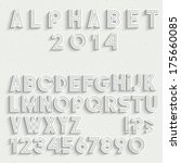 white font  numbers and... | Shutterstock .eps vector #175660085