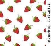 strawberry seamless pattern...   Shutterstock .eps vector #1756626581