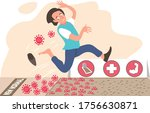 illustration man scared and... | Shutterstock .eps vector #1756630871