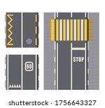 set of seamless road marking on ...   Shutterstock .eps vector #1756643327