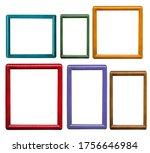 set of wood frames of different ...   Shutterstock . vector #1756646984
