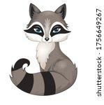 portrait of a cute racoon... | Shutterstock .eps vector #1756649267