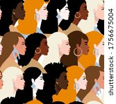 stop racism. we are equal....   Shutterstock .eps vector #1756675004
