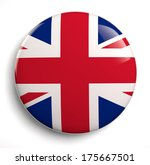 british flag icon. clipping... | Shutterstock . vector #175667501