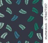 leaves seamless pattern. vector....   Shutterstock .eps vector #1756677257
