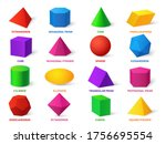 color basic shapes. realistic... | Shutterstock .eps vector #1756695554