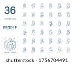 isometric line art icon set.... | Shutterstock .eps vector #1756704491