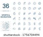 isometric line art icon set.... | Shutterstock .eps vector #1756704494