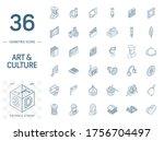 isometric line art icon set.... | Shutterstock .eps vector #1756704497