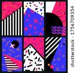 abstract trendy vector...   Shutterstock .eps vector #1756709354
