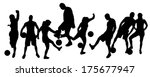 vector silhouettes man and... | Shutterstock .eps vector #175677947