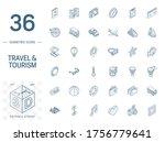 isometric line art icon set.... | Shutterstock .eps vector #1756779641