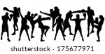 vector silhouette of people who ... | Shutterstock .eps vector #175677971