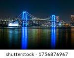Tokyo Rainbow Bridge Glowing...