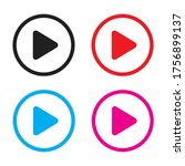 play button vector icon play... | Shutterstock .eps vector #1756899137