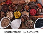 large set of spices and... | Shutterstock . vector #175693895