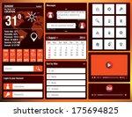 flat design elements for mobile ...