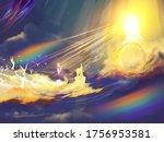 Depiction Of Daniel 7 Heavenly...