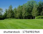 Golf Course With A Rich Green...
