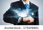 businessman looking at... | Shutterstock . vector #175698881