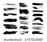 set of grunge brush strokes...   Shutterstock .eps vector #1757015087