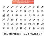 tool and furniture ui icons set....