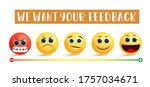 emoji customer feedback vector...   Shutterstock .eps vector #1757034671