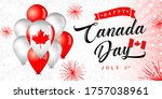 happy canada day greeting... | Shutterstock .eps vector #1757038961