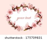 background with blossoming... | Shutterstock .eps vector #175709831