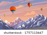 beautiful evening landscape...   Shutterstock .eps vector #1757113667
