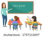 project vector  teacher... | Shutterstock .eps vector #1757113697