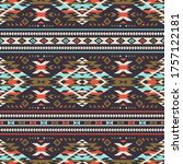 retro colors tribal vector...   Shutterstock .eps vector #1757122181