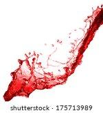 Beautiful Splash Of Red Wine...