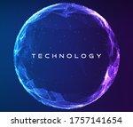abstract vector sphere....   Shutterstock .eps vector #1757141654