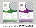business abstract vector flyer... | Shutterstock .eps vector #1757146784