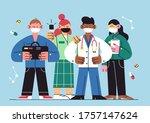 international doctor team.... | Shutterstock .eps vector #1757147624