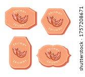 set with four rectangular... | Shutterstock .eps vector #1757208671