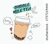 bubble tea special promotions... | Shutterstock .eps vector #1757219444