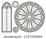 realistic gothic medieval... | Shutterstock .eps vector #1757253044