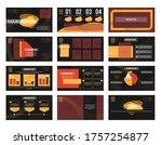business presentation template...   Shutterstock .eps vector #1757254877