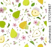 seamless pattern pears and... | Shutterstock .eps vector #1757259887