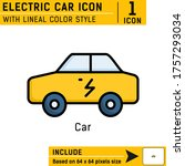 electric car icon isolated on...
