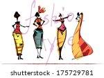 vector fashion models  coloured | Shutterstock .eps vector #175729781