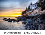 Sunset At The Bass Harbor Head...