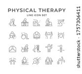 set line icons of physical...   Shutterstock . vector #1757306411
